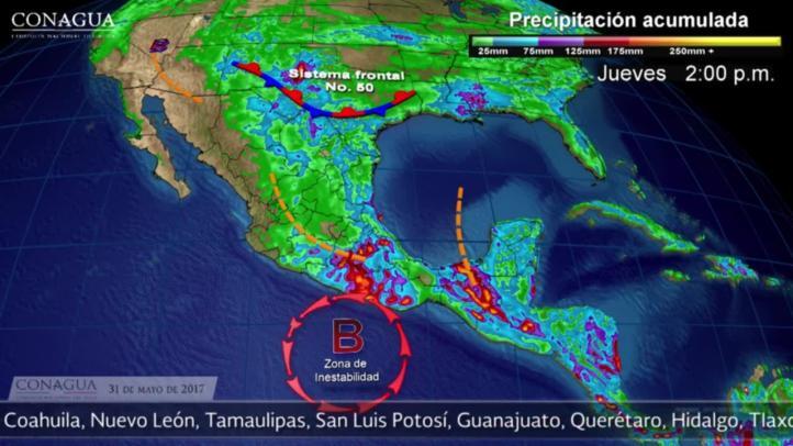 Pronóstico del tiempo para el 31 de mayo