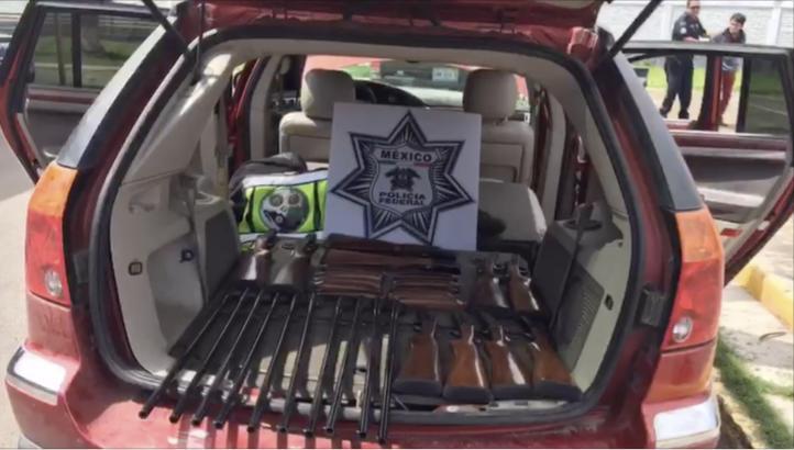 PF detiene a tres personas con armas largas en Guanajuato