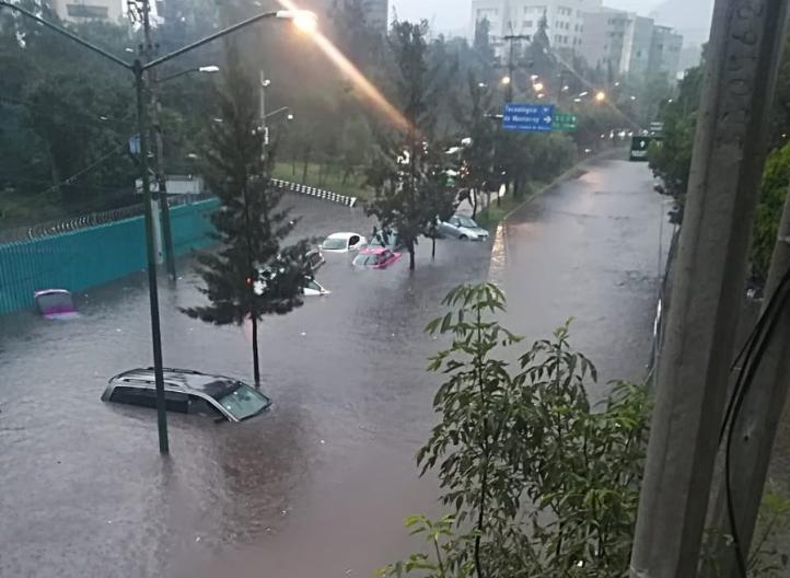 Lluvias causan estragos en toda la capital