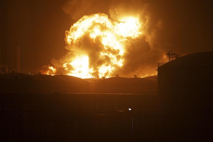 Explosión en planta química china