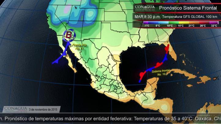 Pronóstico del tiempo para el 3 de noviembre de 2015