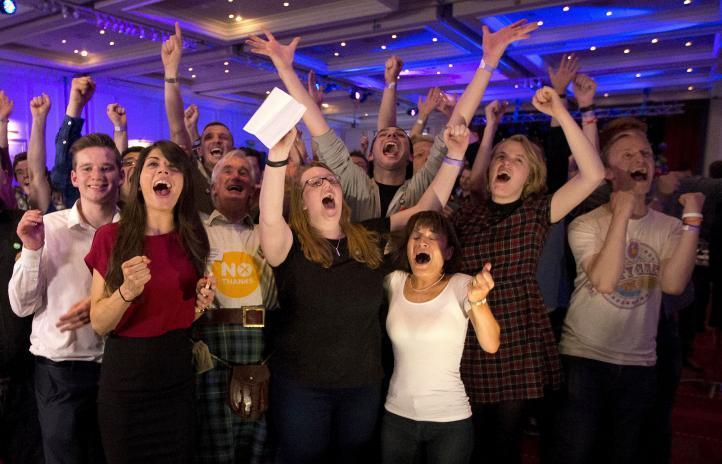 """Adiós al sueño de independencia en Escocia; gana el """"no"""""""