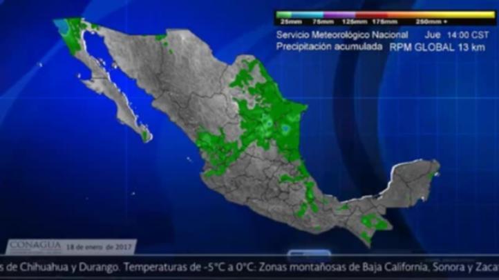Pronóstico del tiempo para el 18 de enero