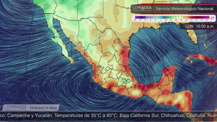 Pronóstico del tiempo para el 23 de mayo