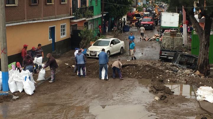 Cientos de viviendas inundadas en Ecatepec