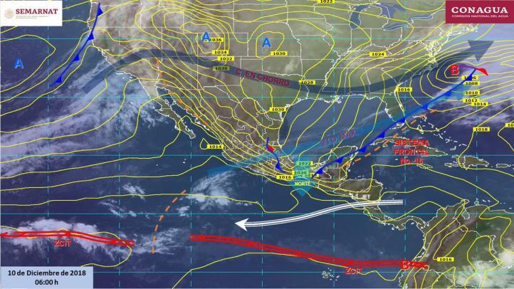 Pronóstico del Tiempo para el 10 de diciembre de 2018