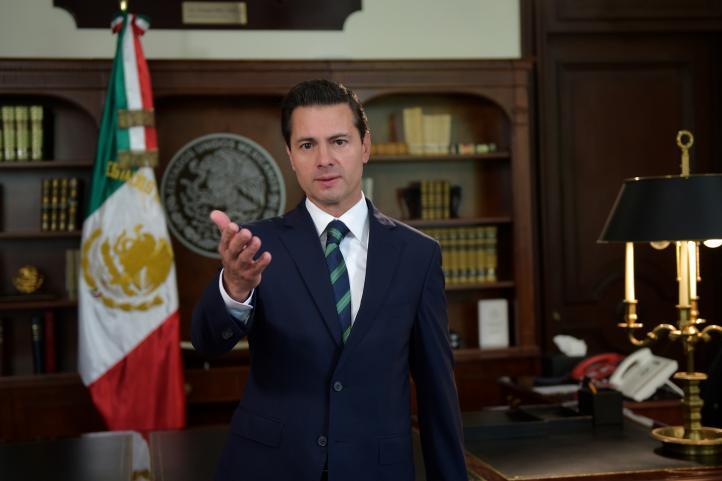 El presidente Enrique Peña Nieto pide diálogo serio a EU