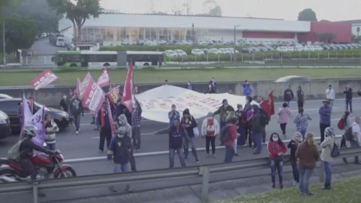 Comienza la huelga general en Brasil