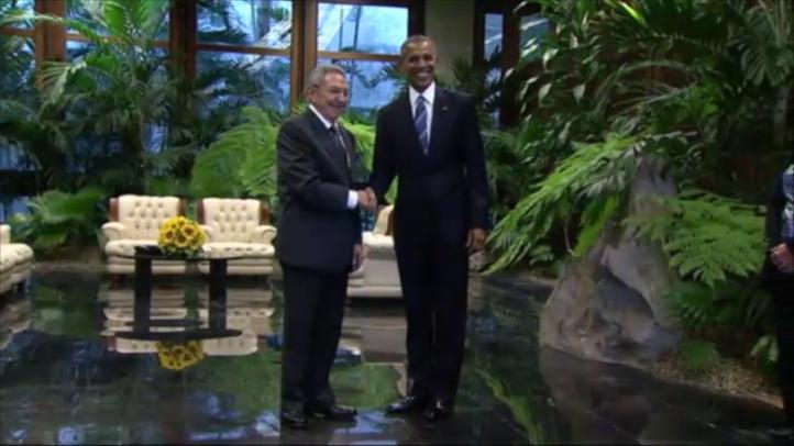 Barack Obama y Raúl Castro se reúnen en el Palacio de la Revolución