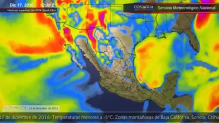 Pronóstico del tiempo para la noche del 16 de diciembre