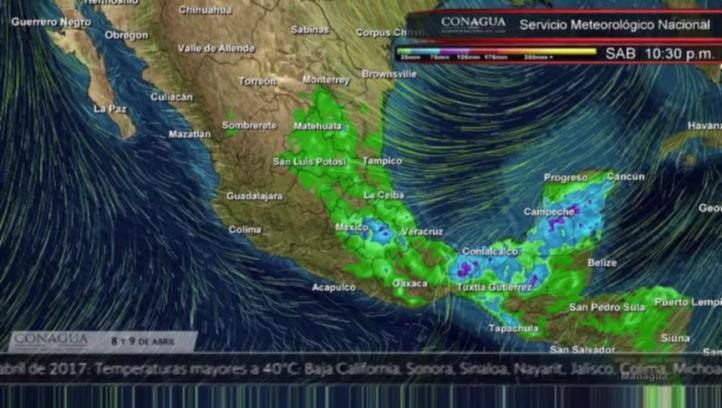 Pronóstico del tiempo para el 8 y 9 de abril