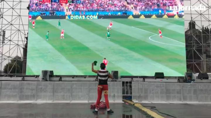Mundial en el Zócalo: La agonía de irle al equipo perdedor