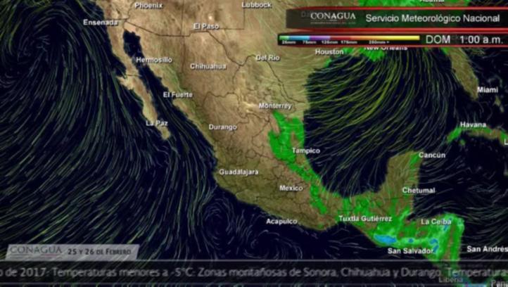 Pronóstico del tiempo del 25 y 26 de febrero