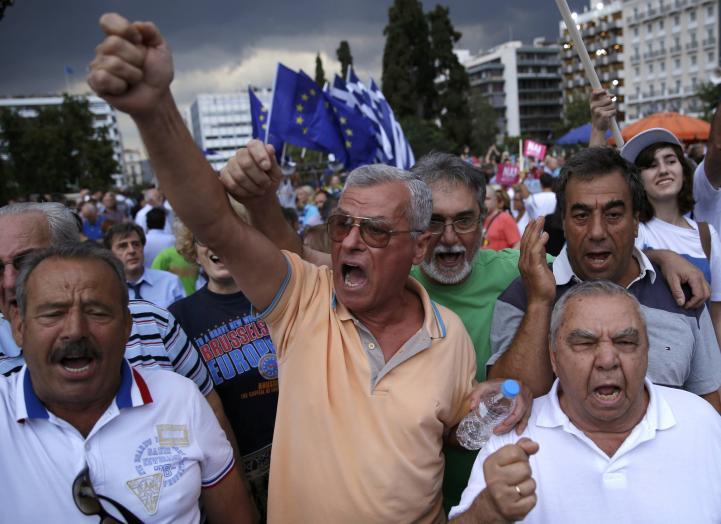 """Miles de griegos claman por el """"Sí"""""""