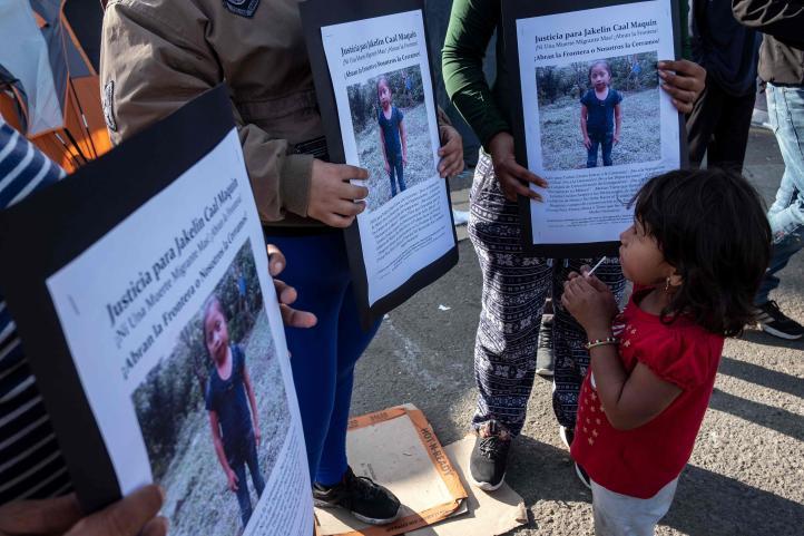 Vigilia en honor de niña migrante guatemalteca