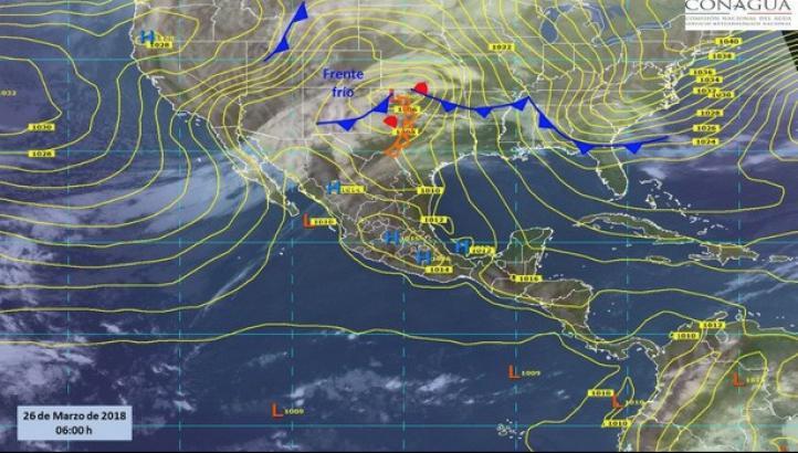 Pronóstico del tiempo para el 26 de marzo