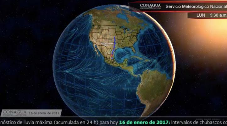 Pronóstico del tiempo para el 16 de enero