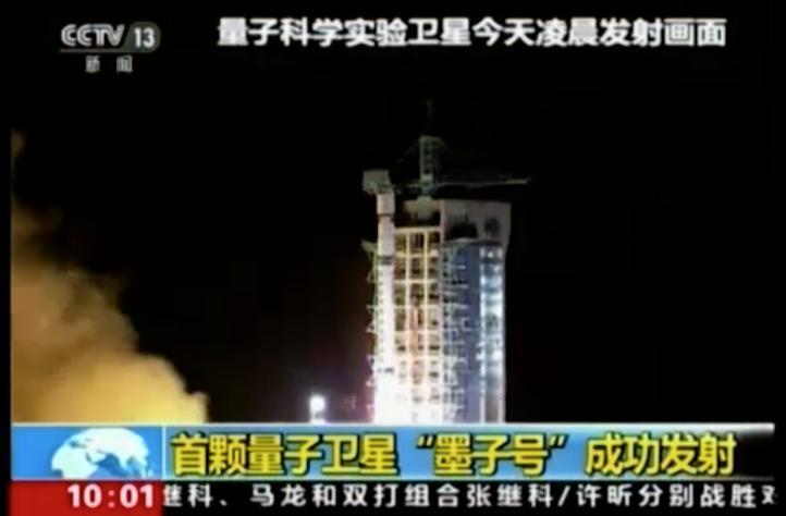 China lanza satélite cuántico