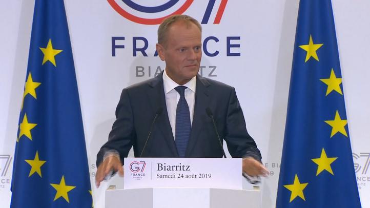 Tusk comienza la cumbre del G7 con reprimendas a EU