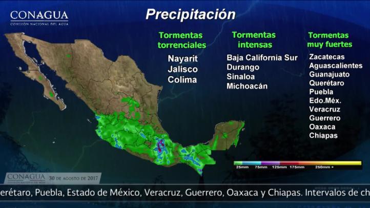 Pronóstico del tiempo para el 30 de agosto