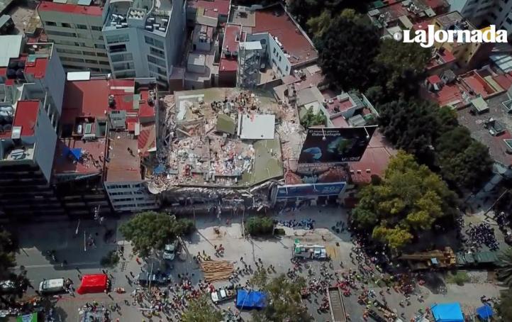 Así se ven las zonas de desastre desde el aire