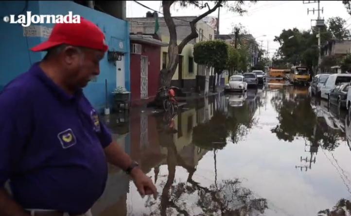 Fuga de agua potable  en  Azcapotzalco