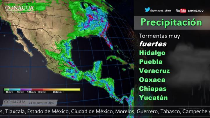 Pronóstico del tiempo para el 24 de mayo