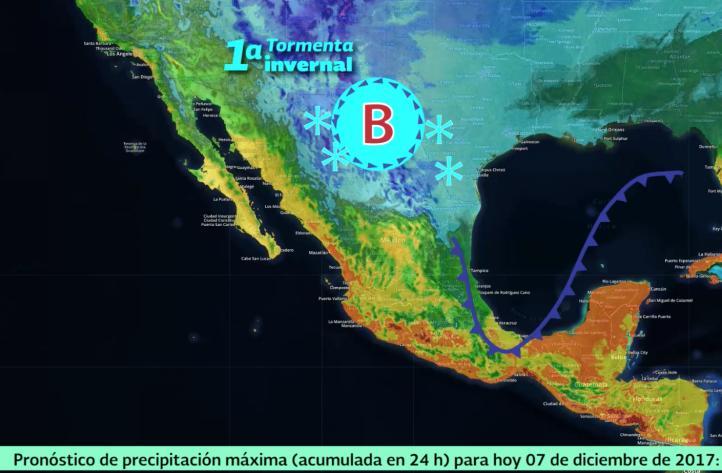 Pronóstico del tiempo para el 7 de diciembre