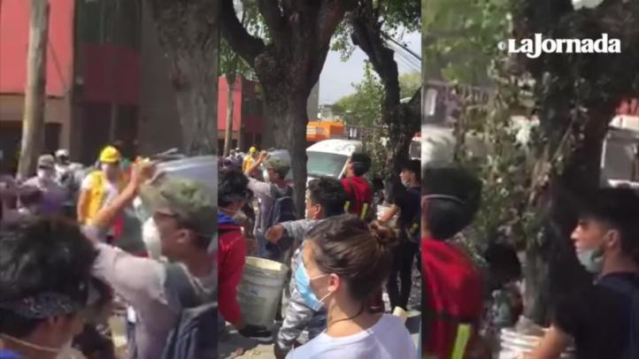 Continúan labores de rescate en la colonia Obrera