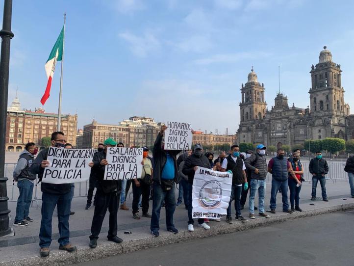 Policías de la CDMX exigen mejora salarial
