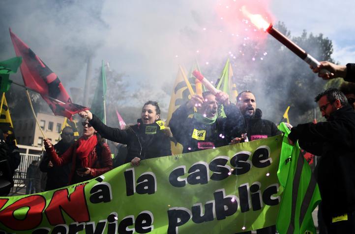 Reanudan huelga de trenes en Francia