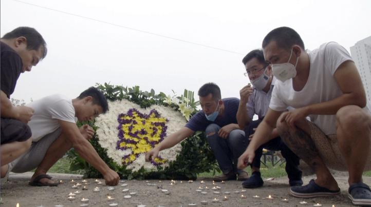 China: Recuerdan a víctimas de explosión