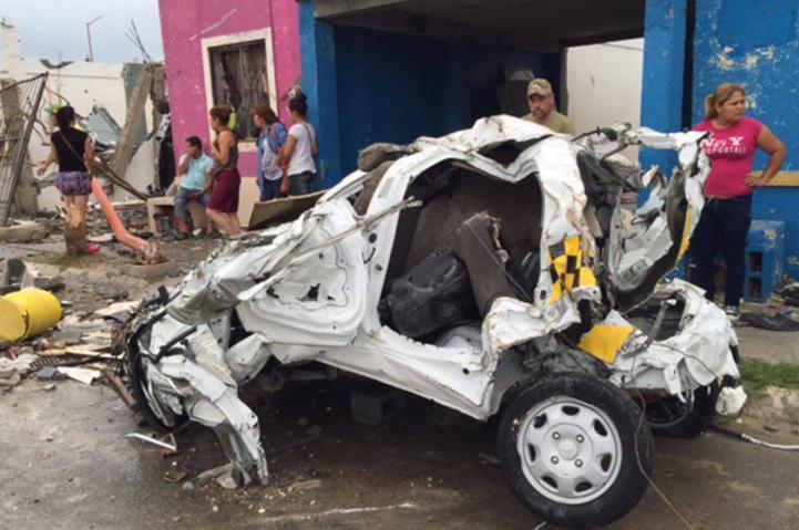 Trece muertos por el tornado en Coahuila