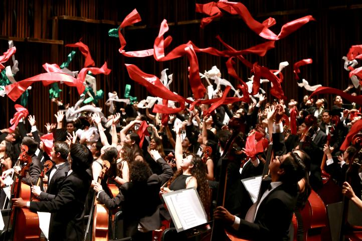 La Orquesta Sinfónica Infantil de México conquista el Palacio de Bellas Artes