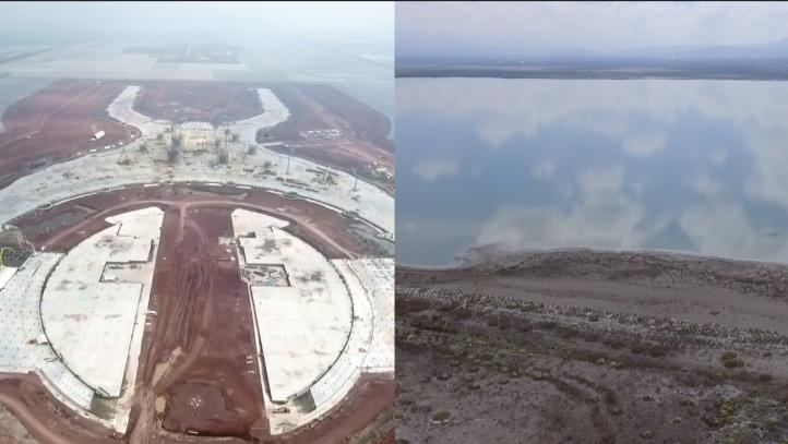 ¿Aeropuerto o agua?