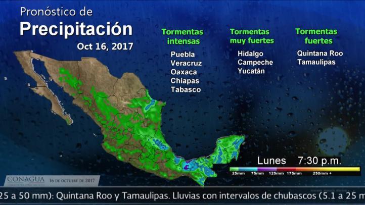 Pronóstico del tiempo para el 16 de octubre