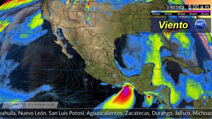 Pronóstico del tiempo para el 23 de noviembre