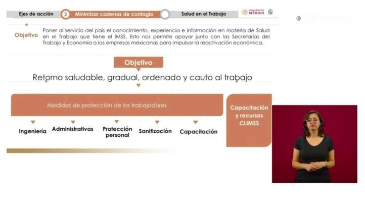 Presenta IMSS el protocolo para que empresas esenciales regresen a laborar