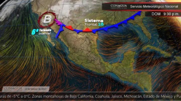Pronóstico del tiempo para el 13 de febrero