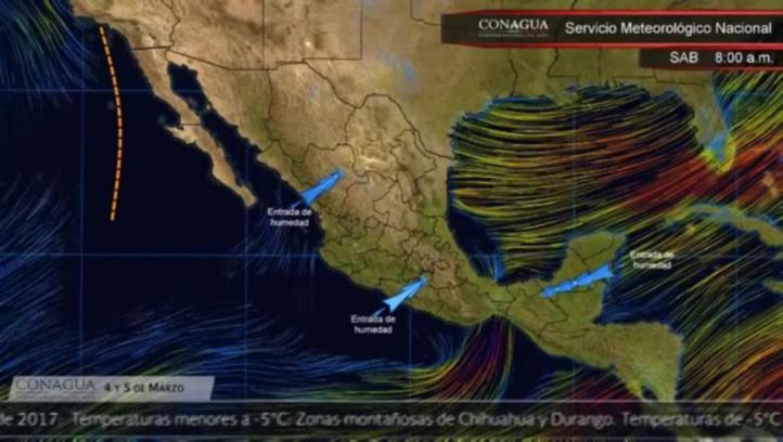 Pronóstico del tiempo para el 4 y 5 de marzo