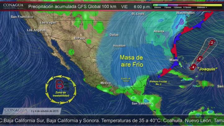 Frente frío 3 causará lluvias en la península de Yucatán