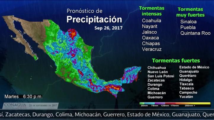 Pronóstico del tiempo para el 25 de septiembre