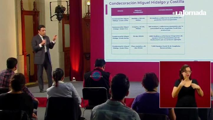 Covid-19: Anuncian condecoración Miguel Hidalgo y Costilla para personal médico