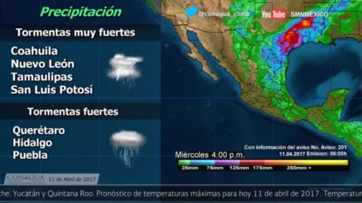 Pronóstico del tiempo para el 11 de abril