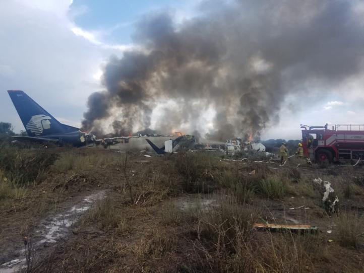 Se desploma nave de Aeroméxico en Durango