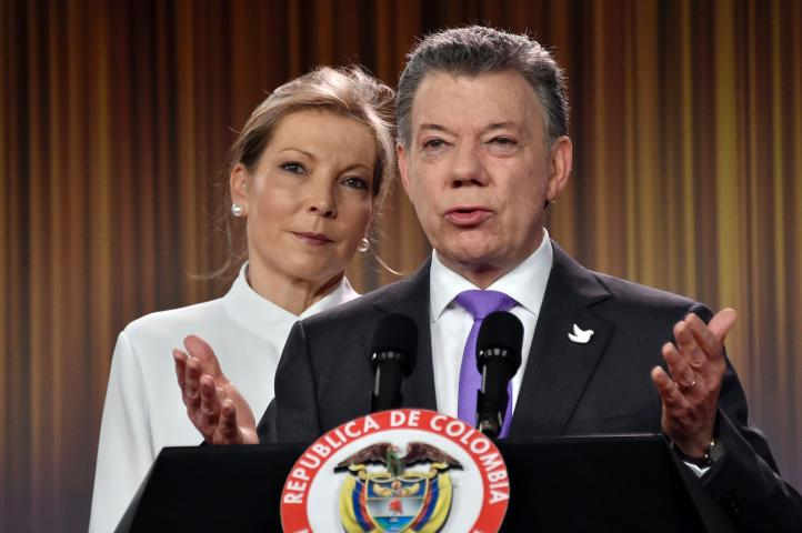 Presidente de Colombia Santos gana el Nobel de la Paz