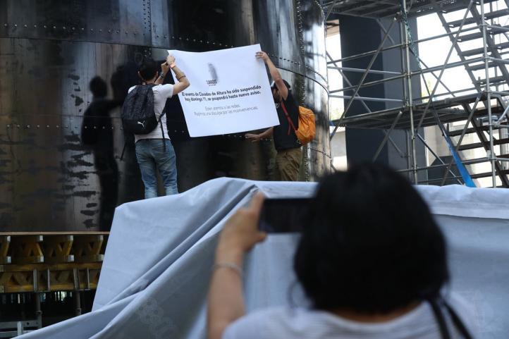 Se cancela competencia de clavados en Paseo de la Reforma