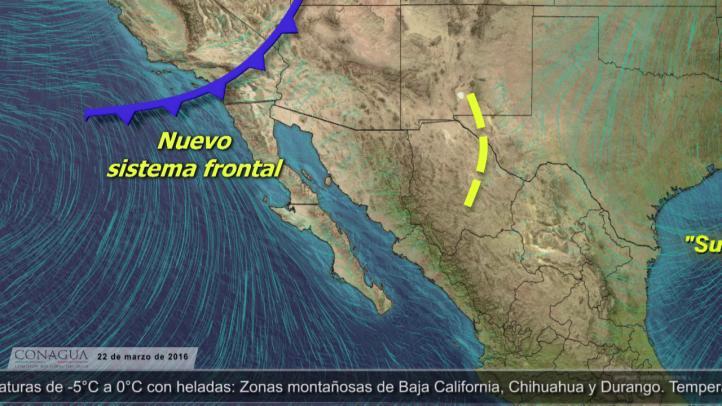 Pronóstico del tiempo para el 22 de marzo