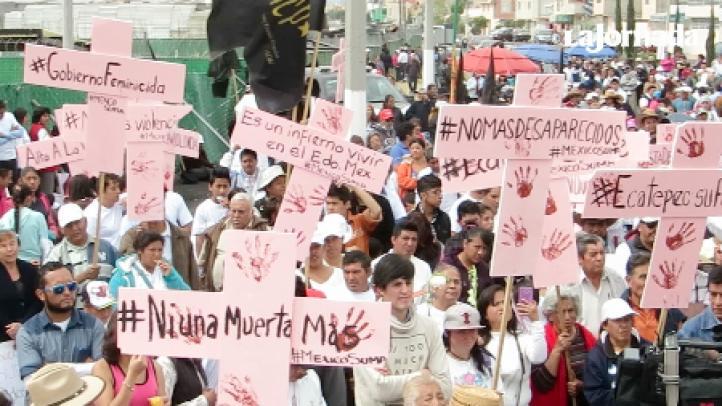 """""""Un infierno, vivir en estado de México"""", manifiestan previa a visita papal"""
