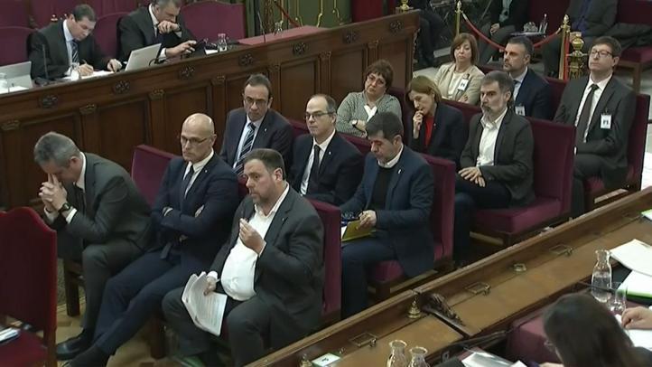 Arranca juicio contra independentistas catalanes